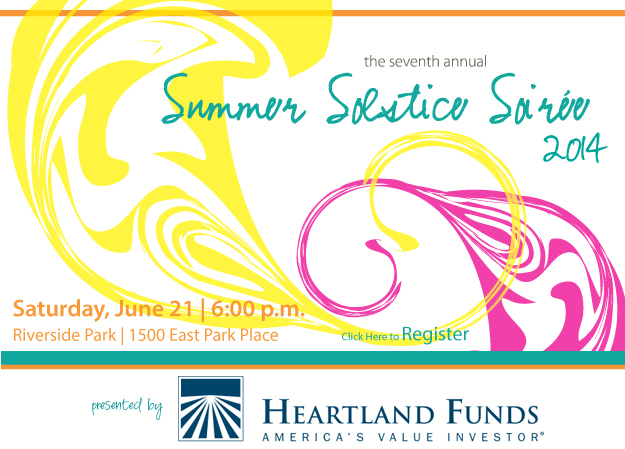 Come to the 7th annual Summer Solstice Soiree presented by Hartford Advisors on Saturday, June 21, 6pm at Urban Ecology Center's Riverside Park branch, 1500 E. Park Place. Click here to register