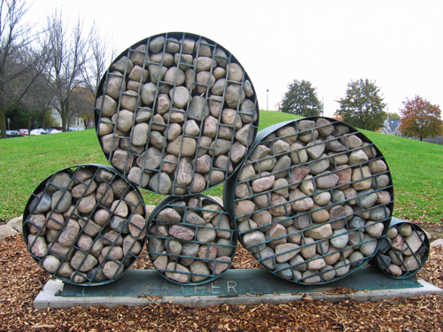 """Gather"" art sculpture by Peter Flanary in Riverside Part"