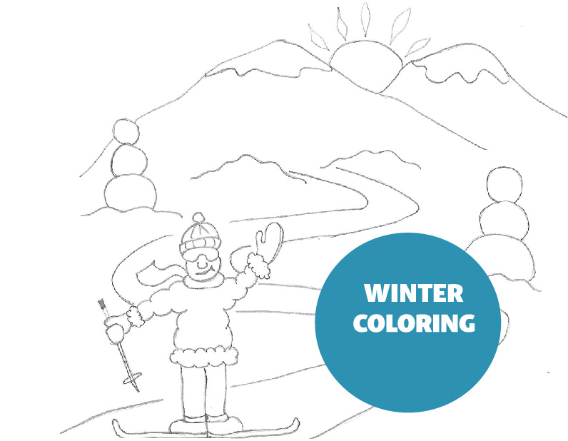 Winter Coloring Activity