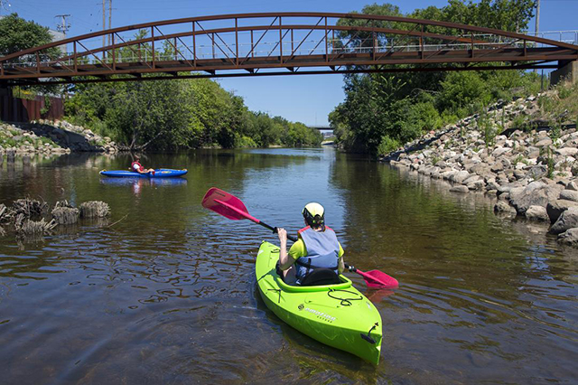 Kayaking on the Menomonee River by Chris Winters