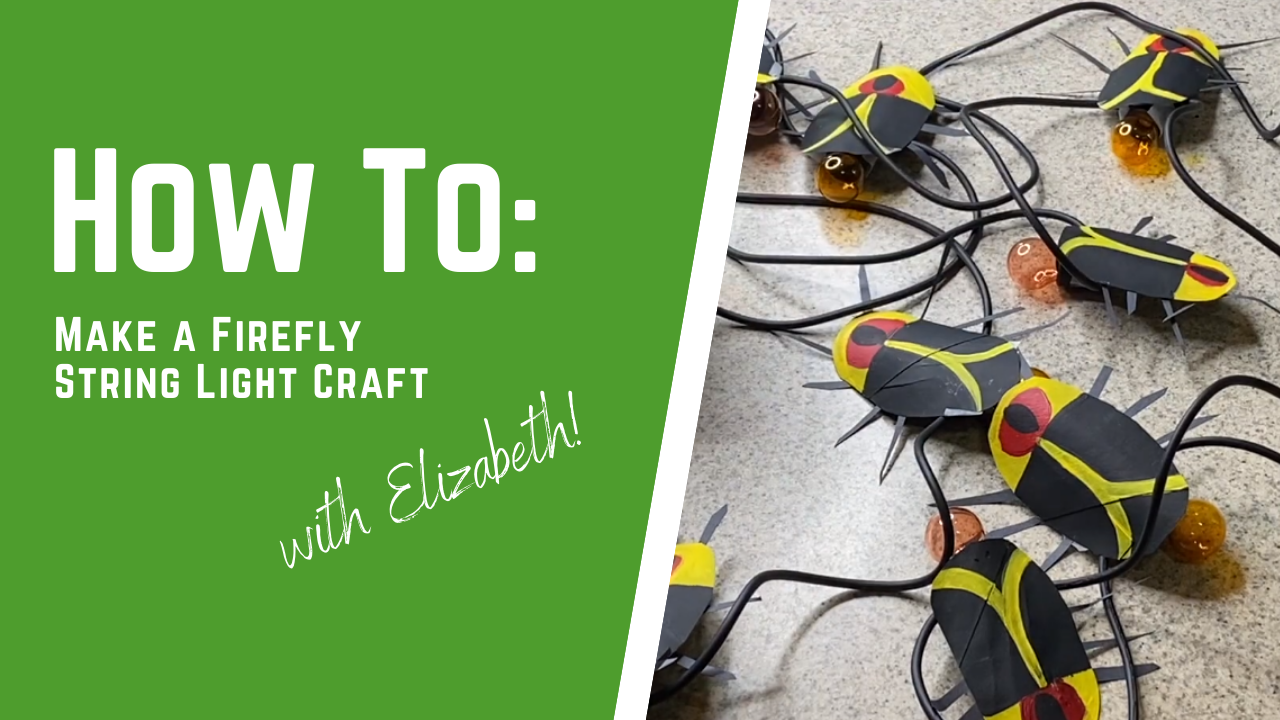 How To Make a Firefly String Lights Craft