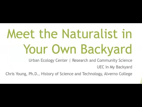 Meet the Naturalist in your own Backyard