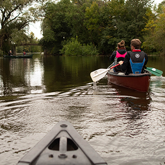 Canoeing on the Washington Park Lagoon. Photo by Faith LeMay