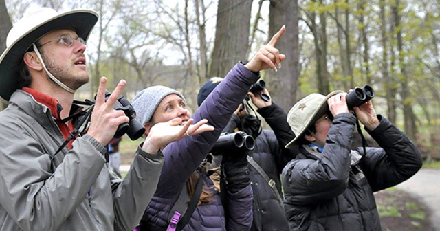 Green Birding Challenge participants try to spot the most birds (without using fossil fuels) to win!
