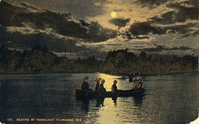 boating postcard