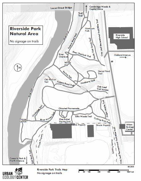 Riverside Park Trail Map