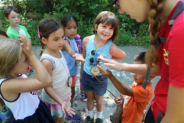 kids learning about nature