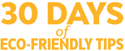 30 Day of Eco-Friendly Tips