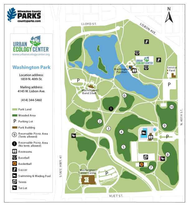 Map of Washington Park