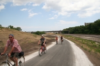 Biking on the Hank Aaron State Trail
